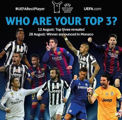 Los 10 Candidatos al Premio al Mejor Jugador de Europa 2015