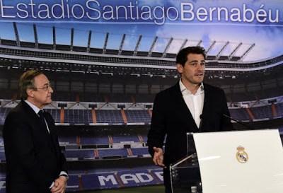 La despedida de Iker Casillas en el Bernabéu florentino