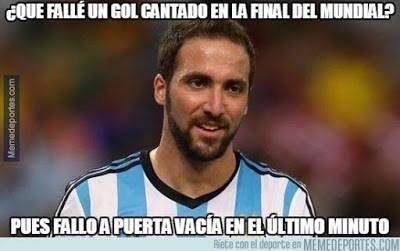 Los mejores memes del Chile-Argentina. Final Copa América higuain