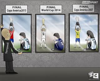 chile campeon copa america 2015 argentina messi pierde tres finales copa