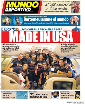 Portada Mundo Deportivo: Barça made in USA