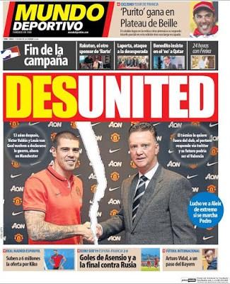 Portada Mundo Deportivo: Desunited