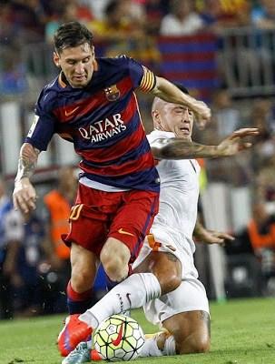Barcelona 3-Roma 0. Trofeo Joan Gamper