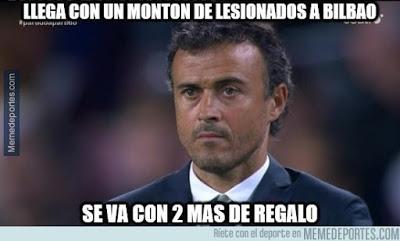 Los mejores memes del Athletic Bilbao-Barcelona: luis enrique