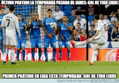 Los mejores memes del Real Madrid-Betis: Jornada 2 james golazo