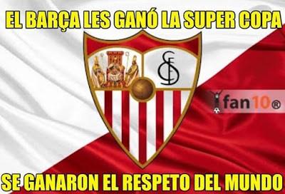 Los mejores memes del Barcelona-Sevilla: Supercopa 2015 respeto sevilla