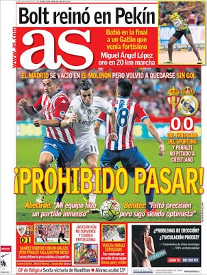 Portada As: empate Sporting-Real Madrid