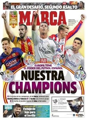 Portada Marca: Nuestra Champions cinco equipos españoles