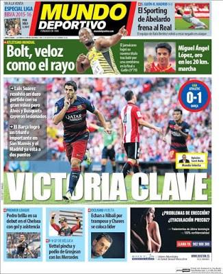 Portada Mundo Deportivo: Victoria clave del Barça san mames
