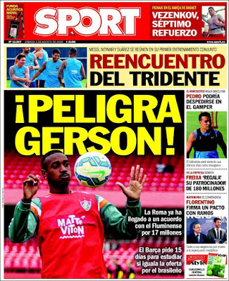 Portada Sport: Gerson