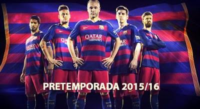 Partidos FC Barcelona: pretemporada 2015-2016 suarez, neymar, iniesta, messi , pique