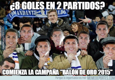 Los mejores memes del Real Madrid-Shakhtar: Champions 2015 cristiano ronaldo balon oro