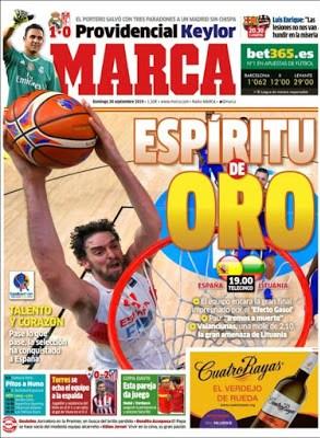 Portada Marca: Espíritu de Oro eurobasket gasol