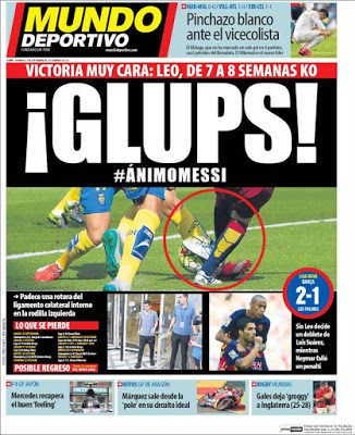 Portada Mundo Deportivo: Glups