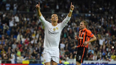 Real Madrid 4-Shakhtar 0. Champions League 2015 cristiano ronaldo