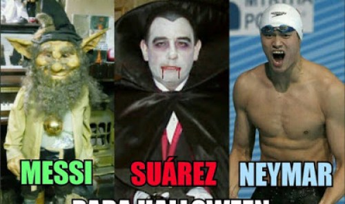Los mejores memes del Getafe-Barcelona. Jornada 10 halloween messi, suarez, neymar