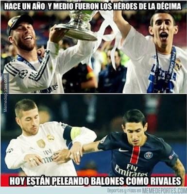 Los mejores memes del PSG-Real Madrid: Champions 2015 ramos di maria