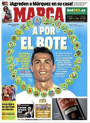 Portada Marca: Ronaldo a por el Bote