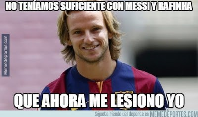 Los mejores memes del Barcelona-BATE: Champions 2015 lesion rakitic