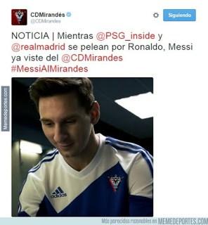 Los mejores memes del Barcelona-BATE: Champions 2015 messi mirandes