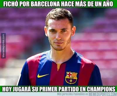 Los mejores memes del Barcelona-BATE: Champions 2015 vermaelen