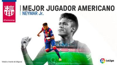 Premios La Liga 2015: mejor jugador americano neymar Liga Española