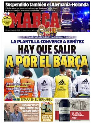Portada Marca: Hay que salir a por el Barça
