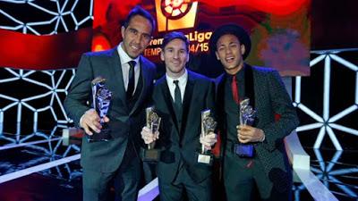 Imágenes de la gala de Premios La Liga 2014-2015  messi neymar bravo