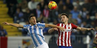 Málaga 0-Atlético Madrid 1. Jornada 16 Liga Española