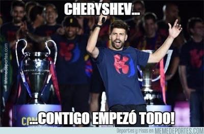 pique cheryshev contigo empezó todo meme real madrid cadiz