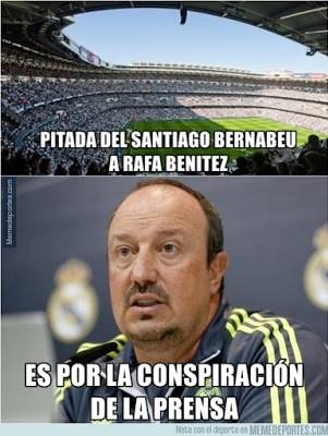 Los mejores memes del Real Madrid-Real Sociedad: Jornada 17 benitez conspiracion