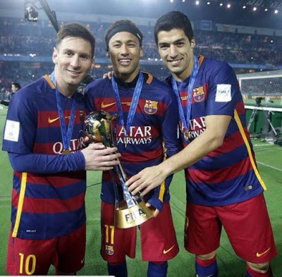 El Barça festeja el Mundial de Clubes en Instagram msn messi suarez neyamr