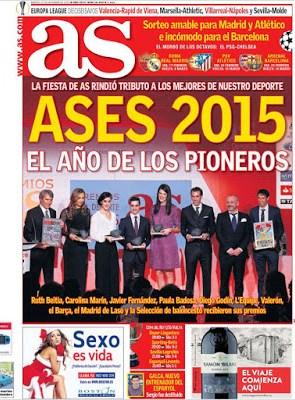 Portada AS: Ases 2015