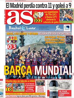 Portada AS: Barça Mundial