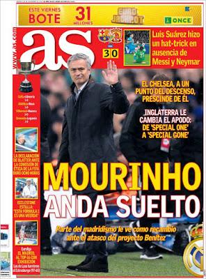 Portada AS: Mourinho anda suelto
