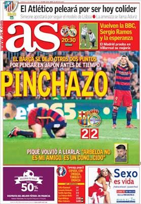 Portada AS: pinchazo del Barça