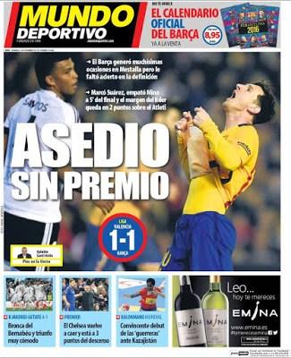 Portada Mundo Deportivo: Asedio sin premio