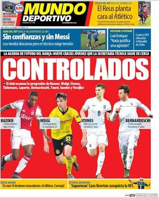 Portada Mundo Deportivo: controlados
