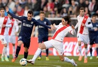 Rayo Vallecano 1-Málaga 2. Jornada 15 Liga Española