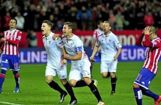 Sevilla 2-Sporting 0. Jornada 15 Liga Española