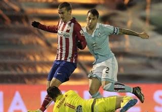 Celta de Vigo 0-Atlético Madrid 2. Jornada 19 Liga Española