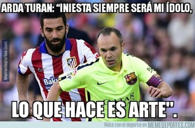 Los mejores memes del Barcelona-Granada. Jornada 19 iniesta turan