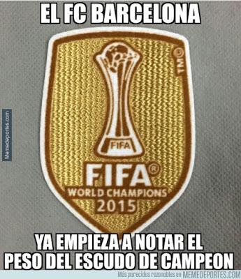 escudo campeon pesa al barcelona