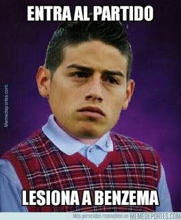 Los mejores memes del Real Madrid-Sporting: Jornada 20 james