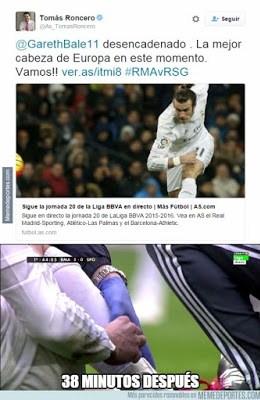 Los mejores memes del Real Madrid-Sporting: Jornada 20 roncero