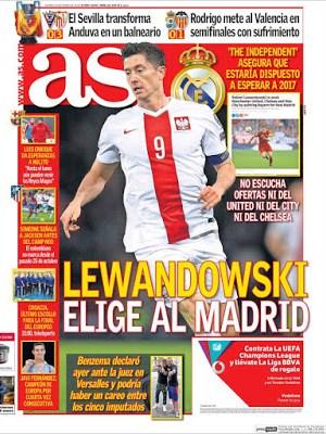 Portada AS: Lewandowski