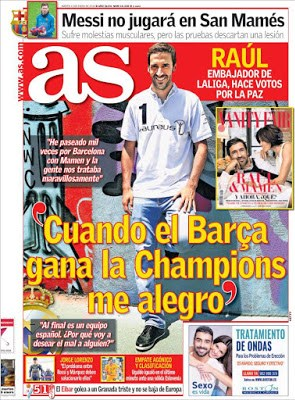 Portada AS: Raúl firma la Paz