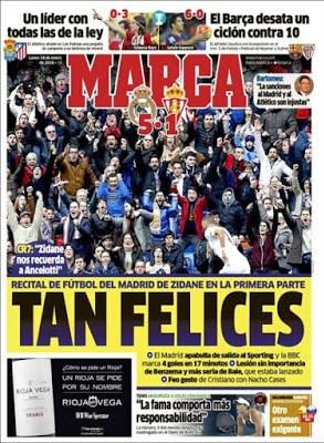 Portada Marca: tan felices con zidane