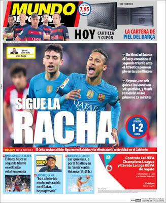 Portada Mundo Deportivo: sigue la racha