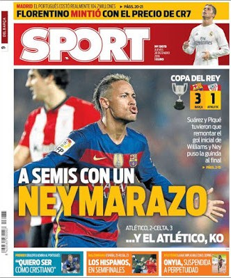 Portada Sport: Neymarazo